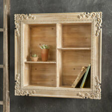 Colonial new carved wood shadowbox shelf