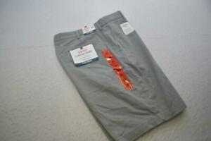 Izod Saltwater Stretch Chino Shorts Relaxed Gray Flat Mens Size 34 NEW