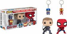 Funko Pop Marvel Civil War Hawkeye Spiderman Iron Man Captain America 4pk