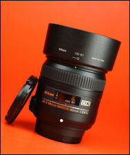 Nikon AF - 40mm F2.8 G DX AF S Nikkor primer lente-Frente Y Parte Trasera Lente Tapas + Capucha