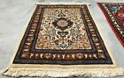 Hand knotted Vintage Bokhara Jhaldar Double Knot Wool Area Rug 2 x 2 Ft