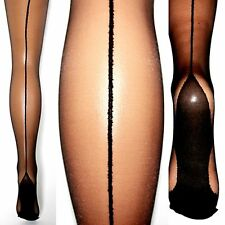 Halterlose Strümpfe Strapse Kubanische Ferse Kostüm Stockings overknee Naht