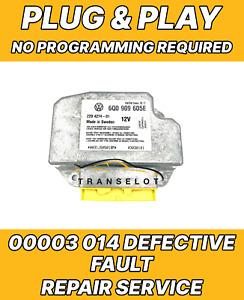 VW BEETLE 6Q0909605AL SRS MODULE FAULT ERROR 00003 014 DEFECTIVE REPAIR SERVICE