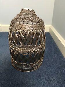 John Lewis Light Shade LAMP SHADE Metalic ornate designer middle eastern feel