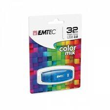 EMTEC Clé USB 32 Go couleur bleu. Idéal pour tous vos besoins quotidiens.