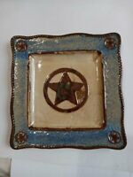 Homestudio Canyon Ranch Collection Dinner  Plate Boot cowboy blue  replacement