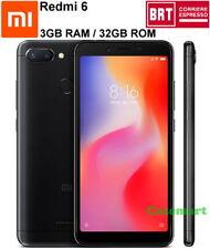 Xiaomi Redmi 6 32GB LTE Dual SIM 3GB RAM Smartphone Sbloccato AI Globale Nero