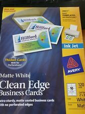 Avery Ink Jet Clean Edge White Business Matte Cards 28877 120 Cards