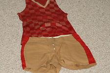 1915-28 Game Worn Basketball Uniform w/Checkered Sweater Jersey & Padded Trunks