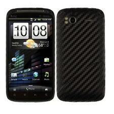 Skinomi Black Carbon Fiber Film Skin + Screen Protector for HTC Sensation 4G