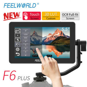 """New FEELWORLD F6 PLUS Monitor 5.5"""" Inch 3D LUT 4K HDMI Video On Camera For DSLR"""