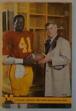 Vintage Football Media Press Guide University Of Minnesota 1980