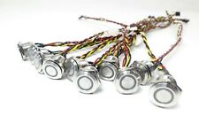 """LOT of 10 18mm Round LED Light Power Push Button Switch Latching - 15"""" length"""