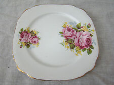 "Imperial fine Bone China Small Square 6"" Plate - Bright Floral Design 101519"