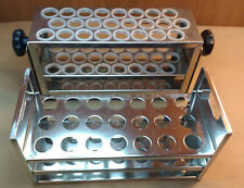 "Lot of 2 Test Tube Stands / Holders / Racks, 21 and 24 3/4"" Tubes"
