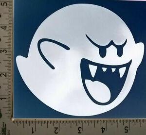 White Mario Boo Ghost Vinyl Decal Sticker Car Window Wall Bumper Computer PC AUC