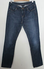 WITCHERY ~ Mid Blue Wash Denim Stretch Straight Leg Selvedge Edge Jeans 11