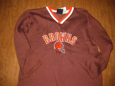 CLEVELAND BROWNS youth medium sweatshirt size 10-12 embroidered vtg