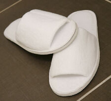 BRAND NEW 10 PAIRS 5 STAR HOTEL QUALITY GUARANTEED WHITE SUPER COMFORT SLIPPERS