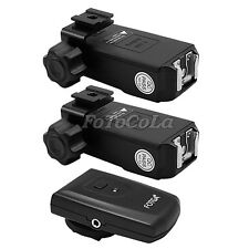 4 channel wireless flash trigger PT-04 set 2 receivers