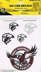 NRL Manly Sea Eagles UV Car Tattoo iTag Sticker Decal