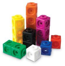 Set di risorse di apprendimento Math cubetti di collegamento (100) Gioco Giocattolo Bambini Gioco Regalo Nuovo Regno Unito