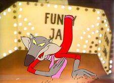 The Devil & Daniel Mouse Animation WEEZEL Hand Painted Cel Copy Background 1978