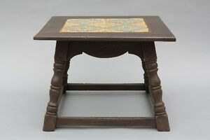 1930s California Taylor Tile Table Antique Spanish Revival Vintage Tudor (9098)