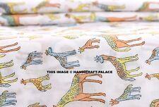 10 Yards Giraffe Animal Print Fabric Cotton Sewing Block Printed Craft Fabrics