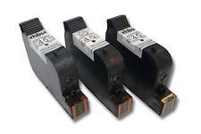 3x ORIGINALE VHBW CARTUCCIA PER HP No. 45 C5165  C51645DE 30ml NERO BLACK
