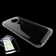 pour Motorola Moto E5 PLUS ÉTUI EN SILICONE TPU Transparent + 0,3 H9 verre