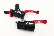 ASV C6 Shorty Red Pro Pack Unbreakable Folding Brake + Clutch Levers Kit DRZ