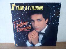 """LP 12"""" FREDERIC FRANCOIS Je t'aime à l'Italienne - M/MINT - NEUF - TREMA 310 199"""