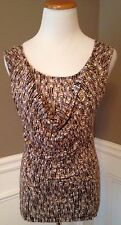 Banana Republic Size M Sleeveless Cowl Neck Knit Top W/ Circle Design