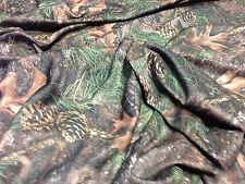 "Camo Mixed Pine True Timber Moisture Wicking Fabric 58""W 4-Way Stretch Knit"