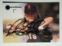 Rare (D-2007) 1995 Fleer Emotion Rod Beck Autograph Card Giants Red Sox Auto