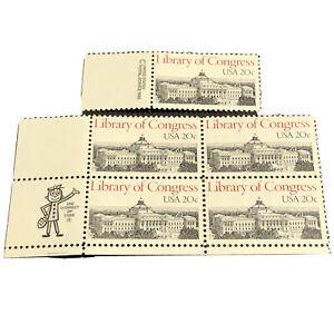 #2004 – 1982 20c Library of Congress - (Block & Single)
