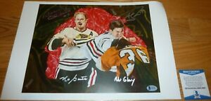 "BECKETT BOBBY HULL ""NO GUTS"" & ANDREW SHAW ""NO GLORY"" SIGNED LITHOGRAPH D61803"