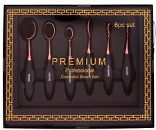 Makeup Brushes Cosmetics Set 6 Premium Oval Blending Contouring Eyeliner Brush