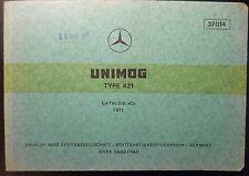 MERCEDES unimog 421 catalogue de pièces de rechange