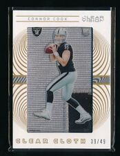 CONNOR COOK 2016 PANINI CLEAR VISION CLEAR CLOTH PATCH 39/49 *OAKLAND RAIDERS*