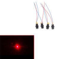 4Pcs 4.5V 12mm Módulo de cabeza láser rojo Plástico Diodo láser láser Punto láQA