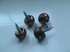 Conjunto de 4 pies de bola de latón para té Caddies Antiguo