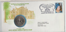 British First Day Cover + 1980 Stamp & Coin Queen Mother 80th Birthday