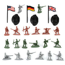 300 pcs 1:72 Figures in 12 Poses Military Plastic Toy Soldiers Army Men w/Flags