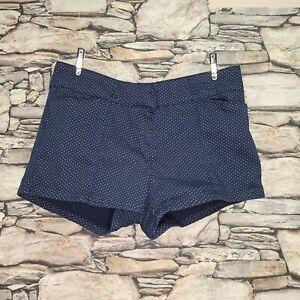 Charlotte Russe Womens Booty Shorts Sz 7 Juniors Navy White Polka Dots Hot Pants