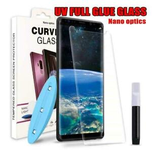 For Samsung Galaxy S21 S20 S10 S9 Note 20 10 UV Tempered Glass Screen Protector