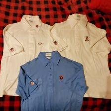 Vintage lot 3 Denver Broncos championship polo shirts from Charlie Lee estate