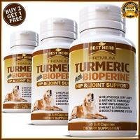 Turmeric Curcumin Hip Stiff Joint Support Supplement Dogs Pets Tumeric Capsules