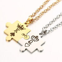 Couples Necklace For Women Men King & Queen Relationship Matching  Necklace FM
